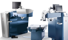 The Femtosecond laser used in all-laser LASIK directs tiny rapid pulses of infrared light to a precise depth within the cornea to create the flap.